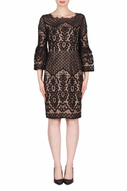 Joseph Ribkoff Black Lace Dress - Front cropped