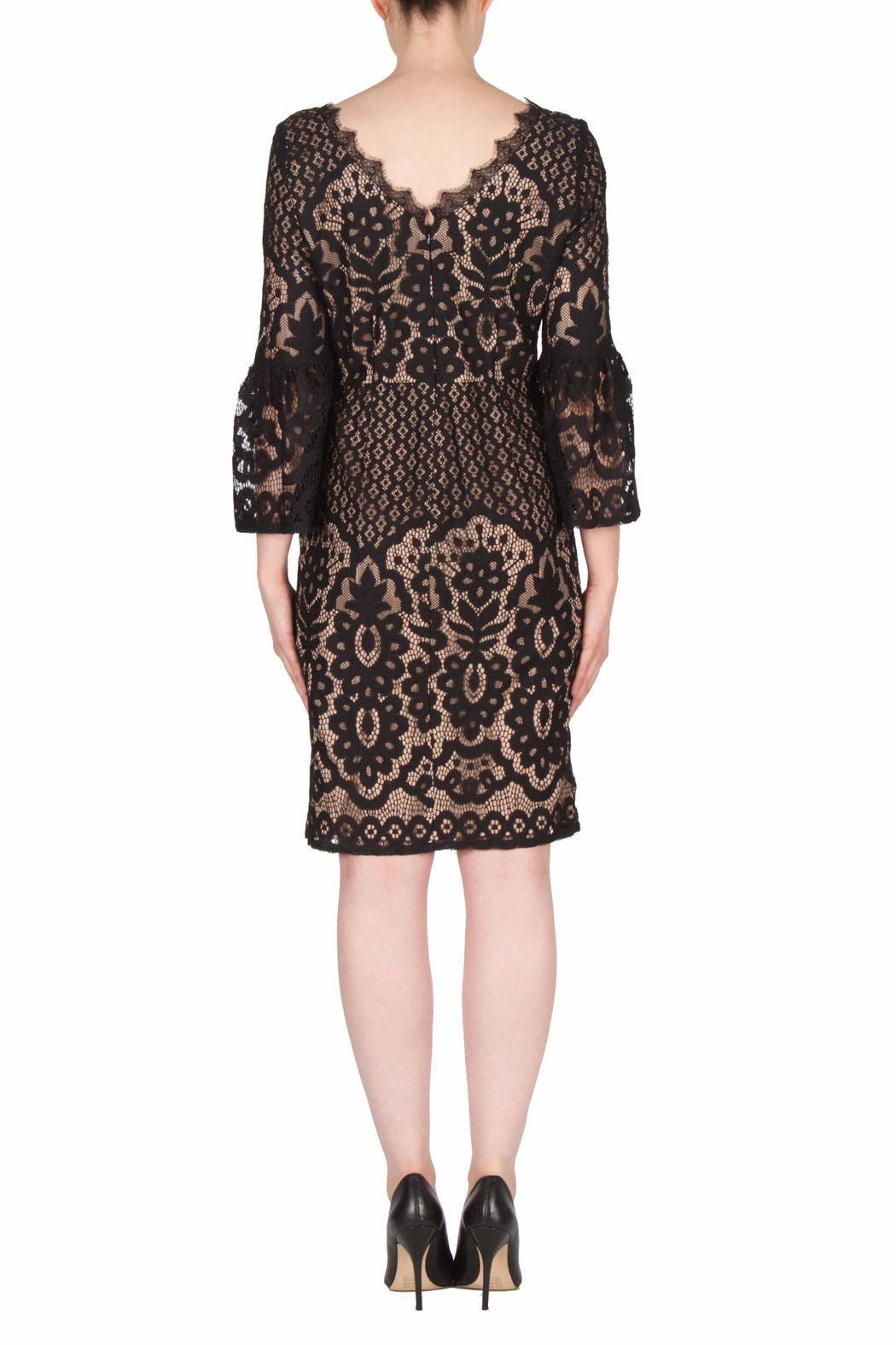 Joseph Ribkoff Black Lace Dress - Side Cropped Image
