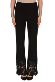 Joseph Ribkoff Black Lace Pant - Product Mini Image