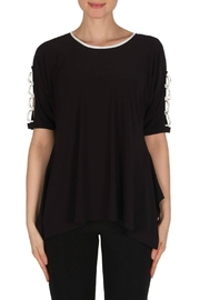 Joseph Ribkoff Black Loop Sleeve - Product Mini Image