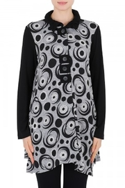Joseph Ribkoff Black Pattern Tunic - Product Mini Image