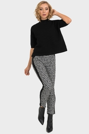 Joseph Ribkoff Black Ribbed Sweater - Front cropped