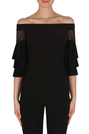 Joseph Ribkoff Black Ruffle Sleeve - Product Mini Image