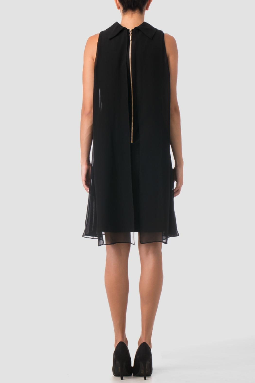 Joseph Ribkoff Black Shift Dress - Front Full Image