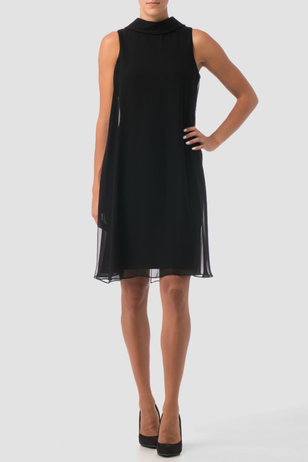 Joseph Ribkoff Black Shift Dress - Front Cropped Image