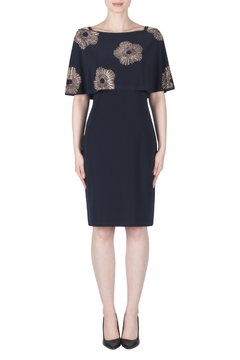 Joseph Ribkoff Black Starburst Dress - Alternate List Image