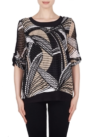 Joseph Ribkoff Open Weave Top - Product Mini Image