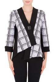 Joseph Ribkoff Black/white Check Jacket - Product Mini Image