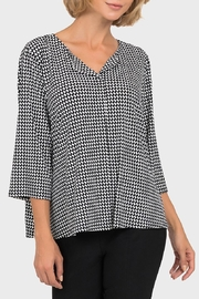 Joseph Ribkoff Black/off-White Checked Top - Product Mini Image