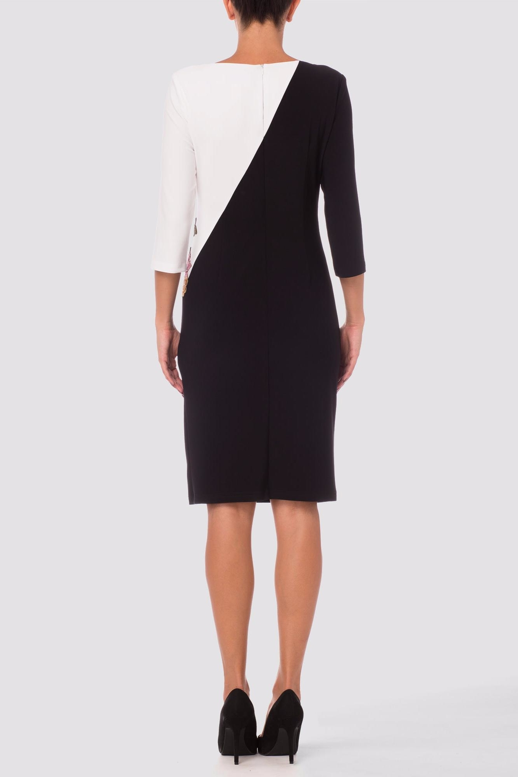 Joseph Ribkoff Black/white Dress - Front Full Image