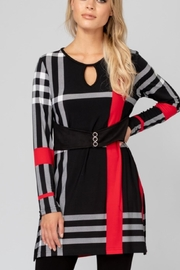 Joseph Ribkoff Black White Red - Front cropped