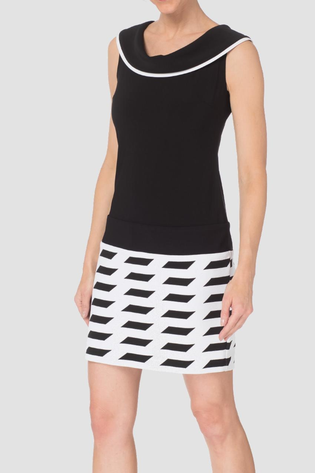 Joseph Ribkoff Black/white Sheath Dress - Front Cropped Image