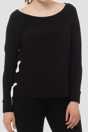 Joseph Ribkoff Black/white Side-Laced Top - Product Mini Image