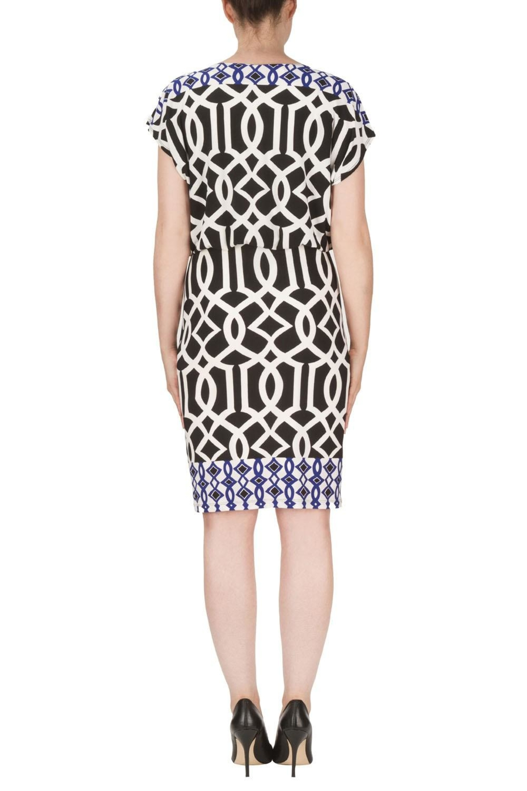 Joseph Ribkoff Bloused Dress - Side Cropped Image