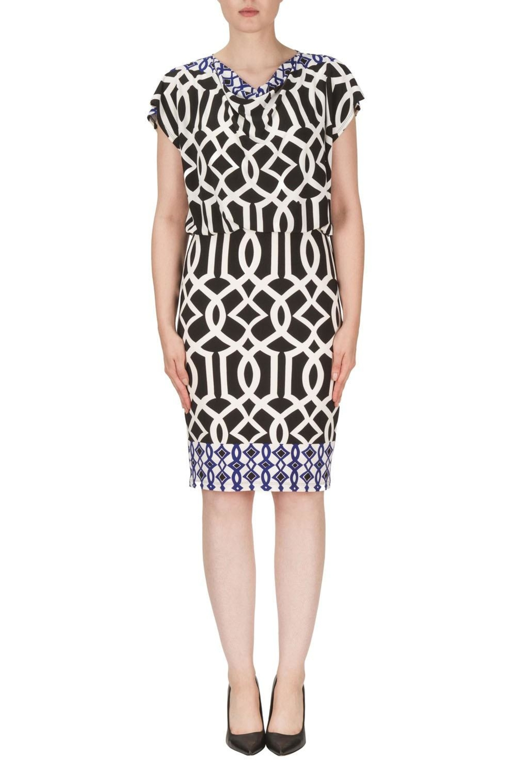 Joseph Ribkoff Bloused Dress - Front Cropped Image