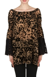 Joseph Ribkoff Burnout Lace Tunic - Product Mini Image