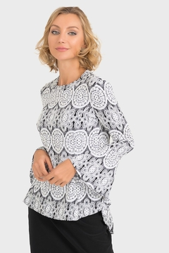 Joseph Ribkoff Camilla Lace-Look Top - Product List Image
