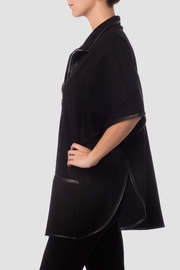 Joseph Ribkoff Black Cape Top - Side cropped