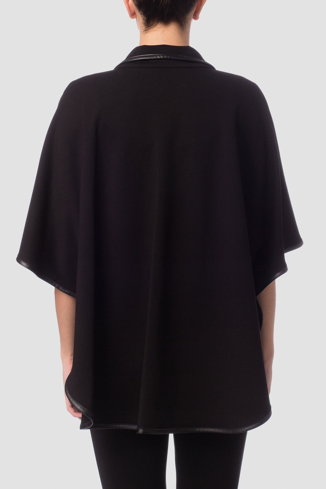Joseph Ribkoff Black Cape Top - Front Full Image