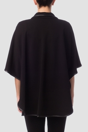 Joseph Ribkoff Black Cape Top - Front full body