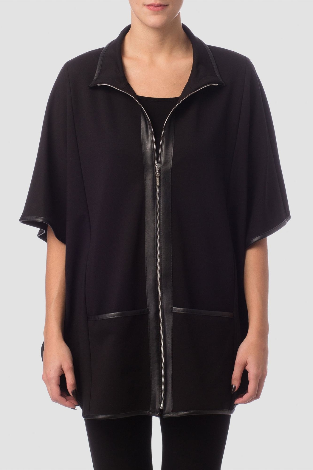 Joseph Ribkoff Black Cape Top - Main Image