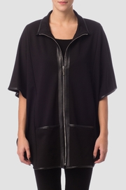 Joseph Ribkoff Black Cape Top - Front cropped