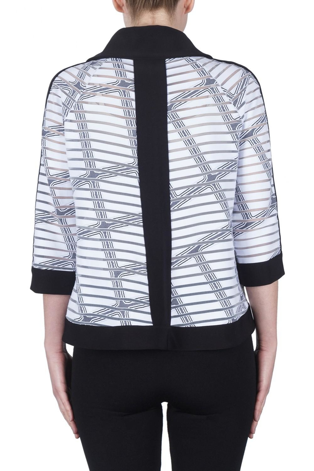 Joseph Ribkoff Check Pattern Jacket - Side Cropped Image