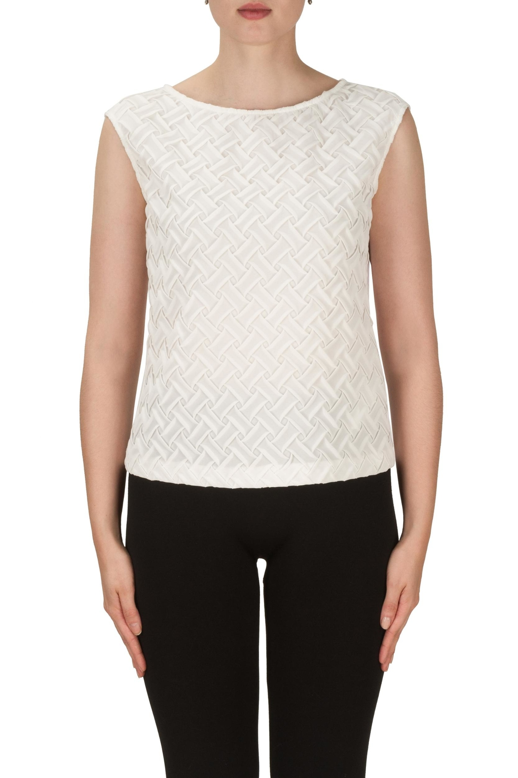 Joseph Ribkoff Basket Weave Tank Top - Front Cropped Image