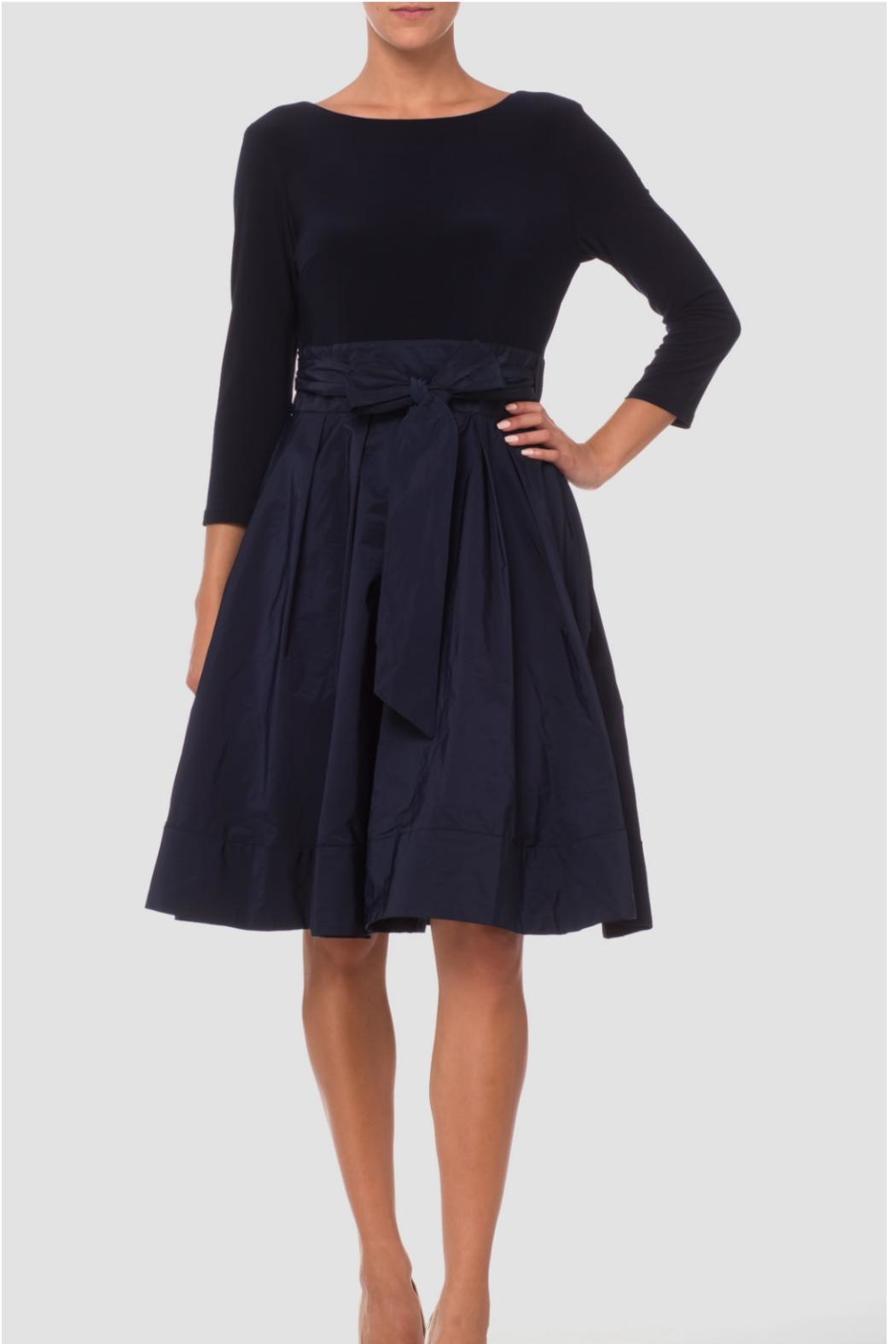 Joseph Ribkoff Cinched Waist Dress - Front Cropped Image