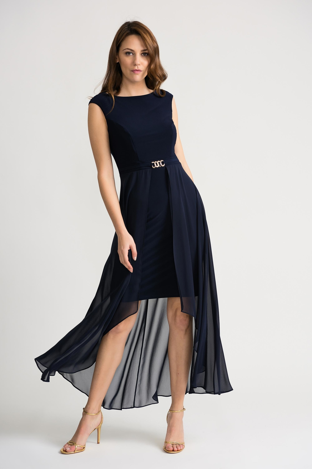 Joseph Ribkoff Clarice Midnight-Blue Dress - Front Cropped Image