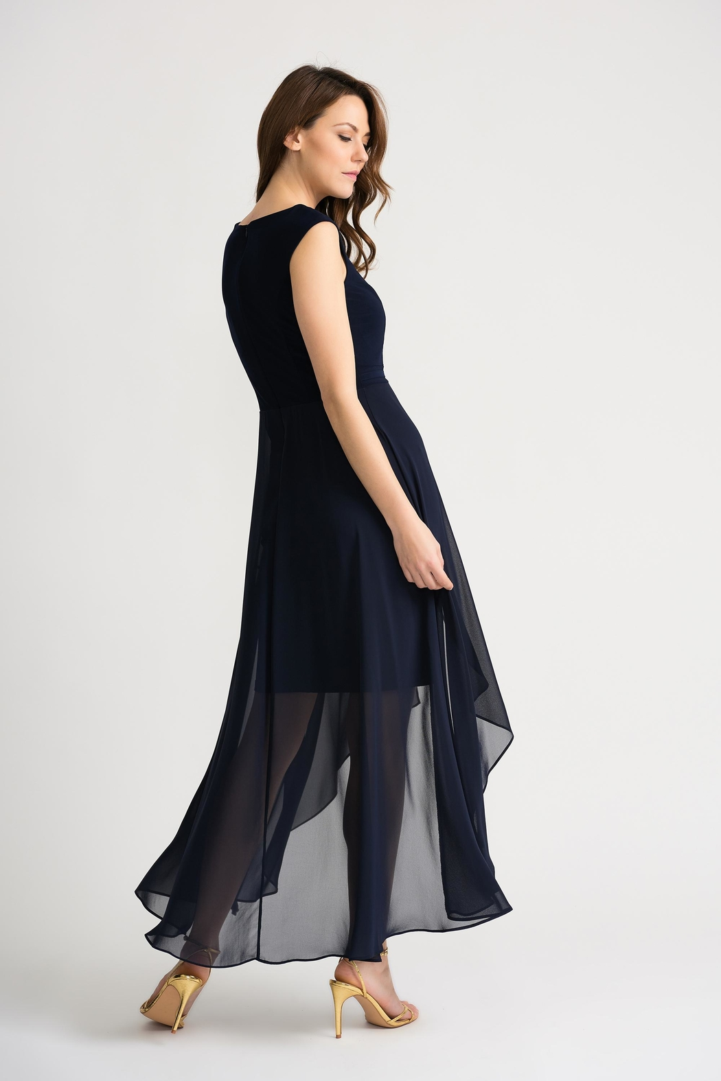 Joseph Ribkoff Clarice Midnight-Blue Dress - Side Cropped Image