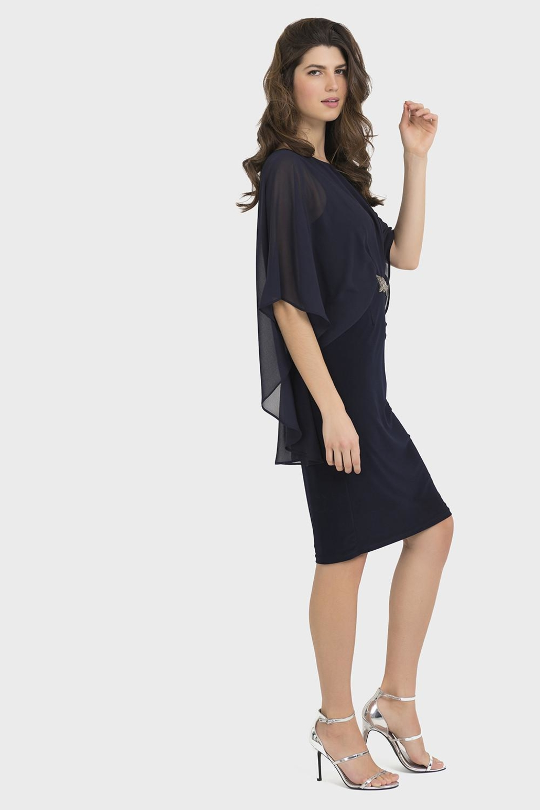 Joseph Ribkoff Clarissa Midnight-Blue Dress - Front Full Image