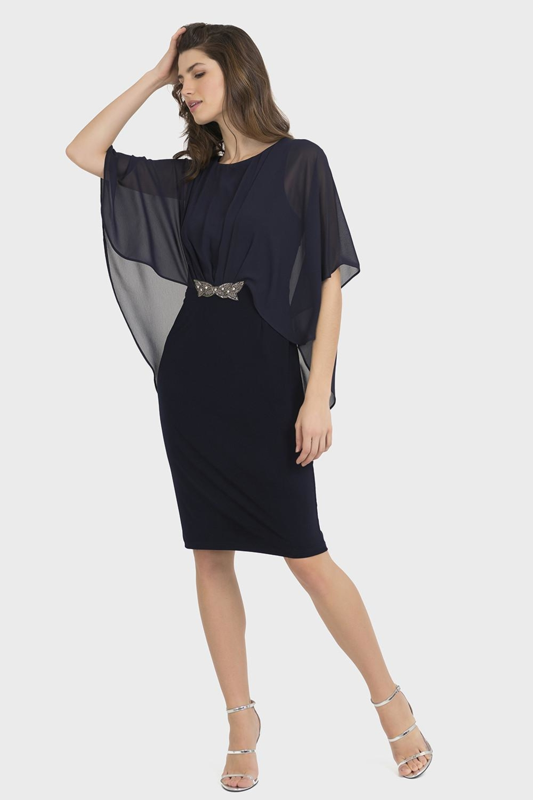 Joseph Ribkoff Clarissa Midnight-Blue Dress - Main Image