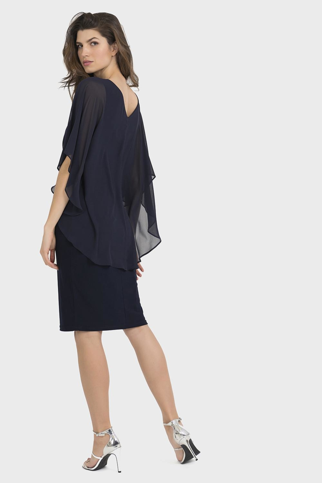 Joseph Ribkoff Clarissa Midnight-Blue Dress - Side Cropped Image