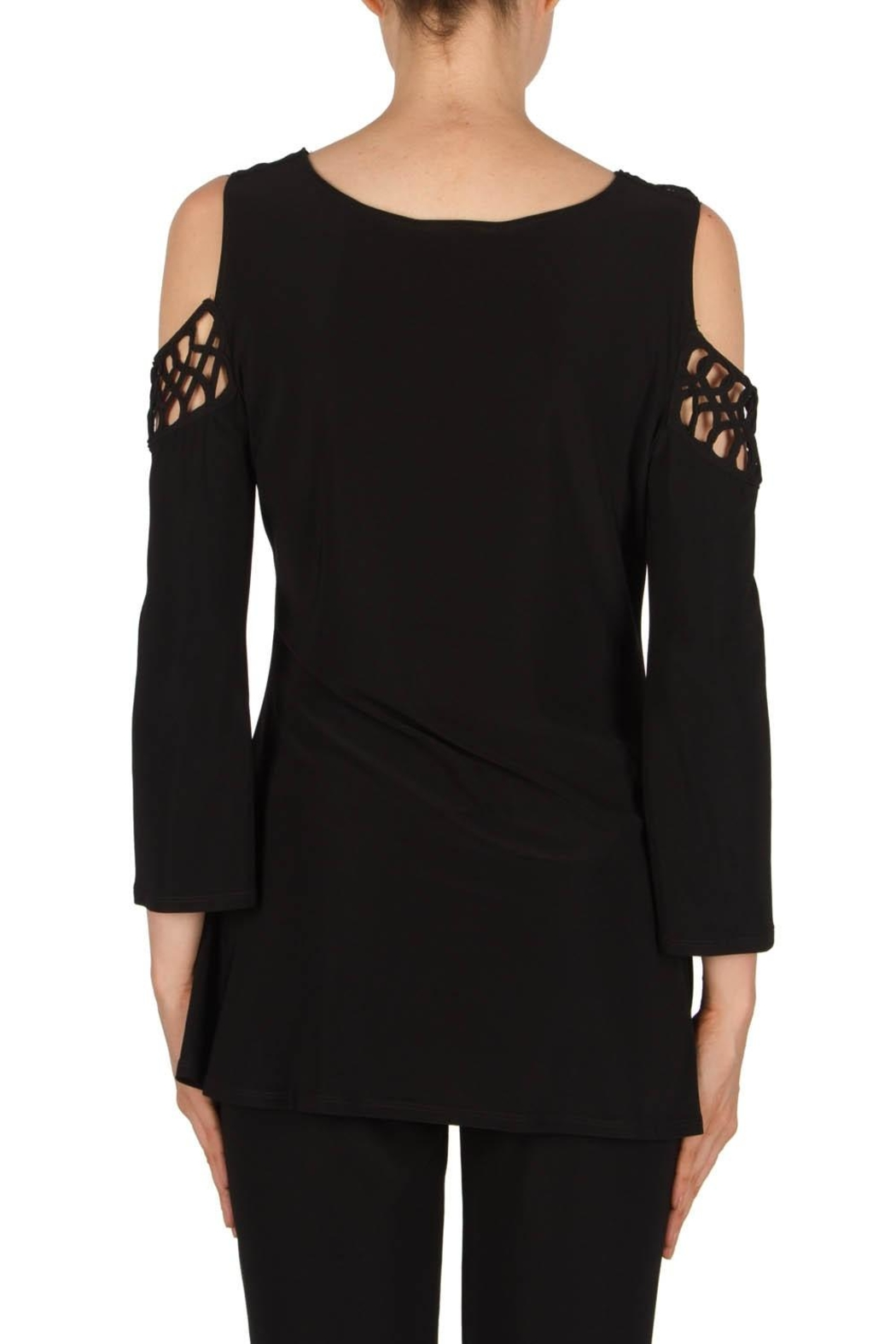Joseph Ribkoff Cold Shoulder Top - Side Cropped Image