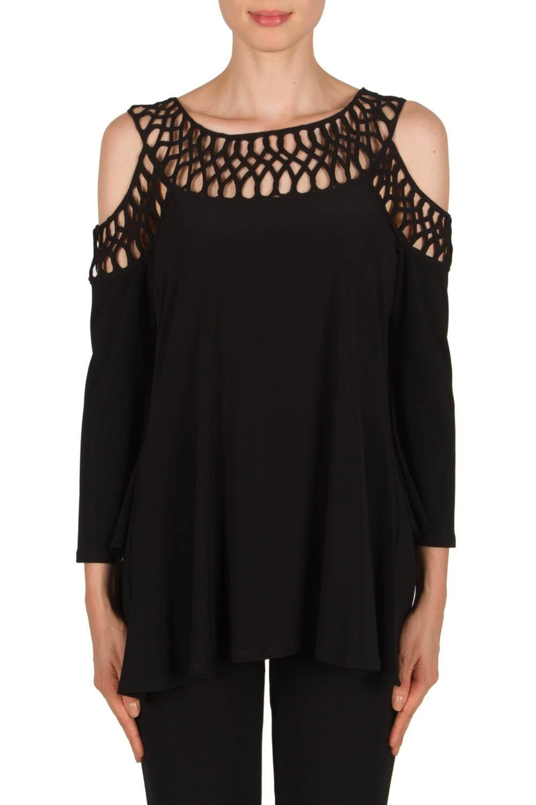 Joseph Ribkoff Cold Shoulder Top - Main Image