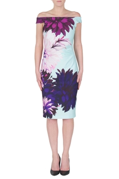 Joseph Ribkoff Colorful Dahlia Dress - Product List Image