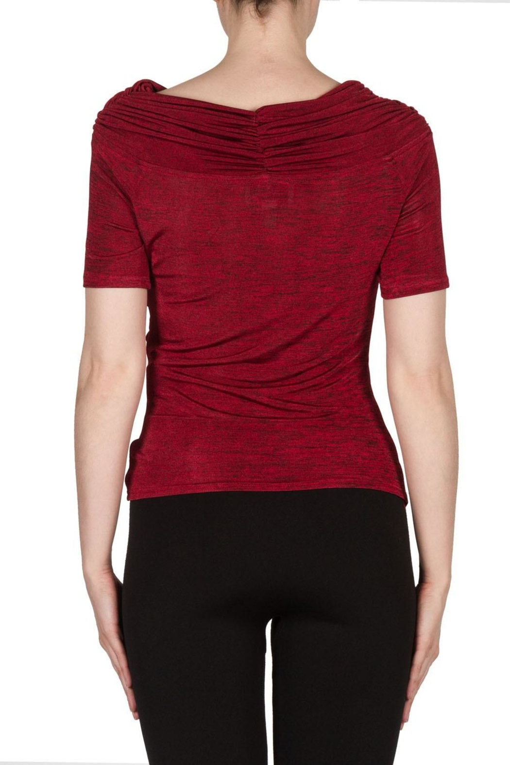 Joseph Ribkoff Cowl Style Top - Back Cropped Image