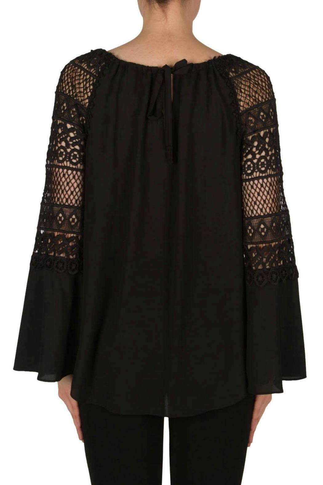 Joseph Ribkoff Crochet Bell Sleeve - Side Cropped Image