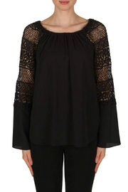 Joseph Ribkoff Crochet Bell Sleeve - Front cropped