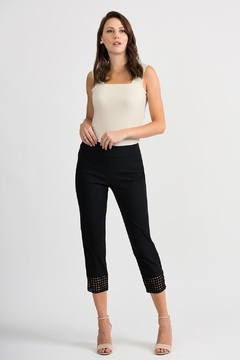 Joseph Ribkoff Crochet Bottom Crop Pant - Alternate List Image