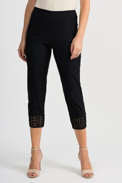 Joseph Ribkoff Crochet Bottom Crop Pant - Product List Image
