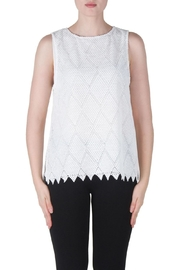 Joseph Ribkoff Crochet Knit Top - Product Mini Image