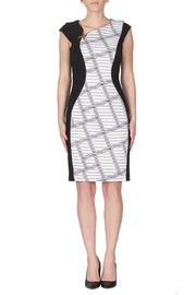 Joseph Ribkoff Crosshatch Themed Dress - Product Mini Image
