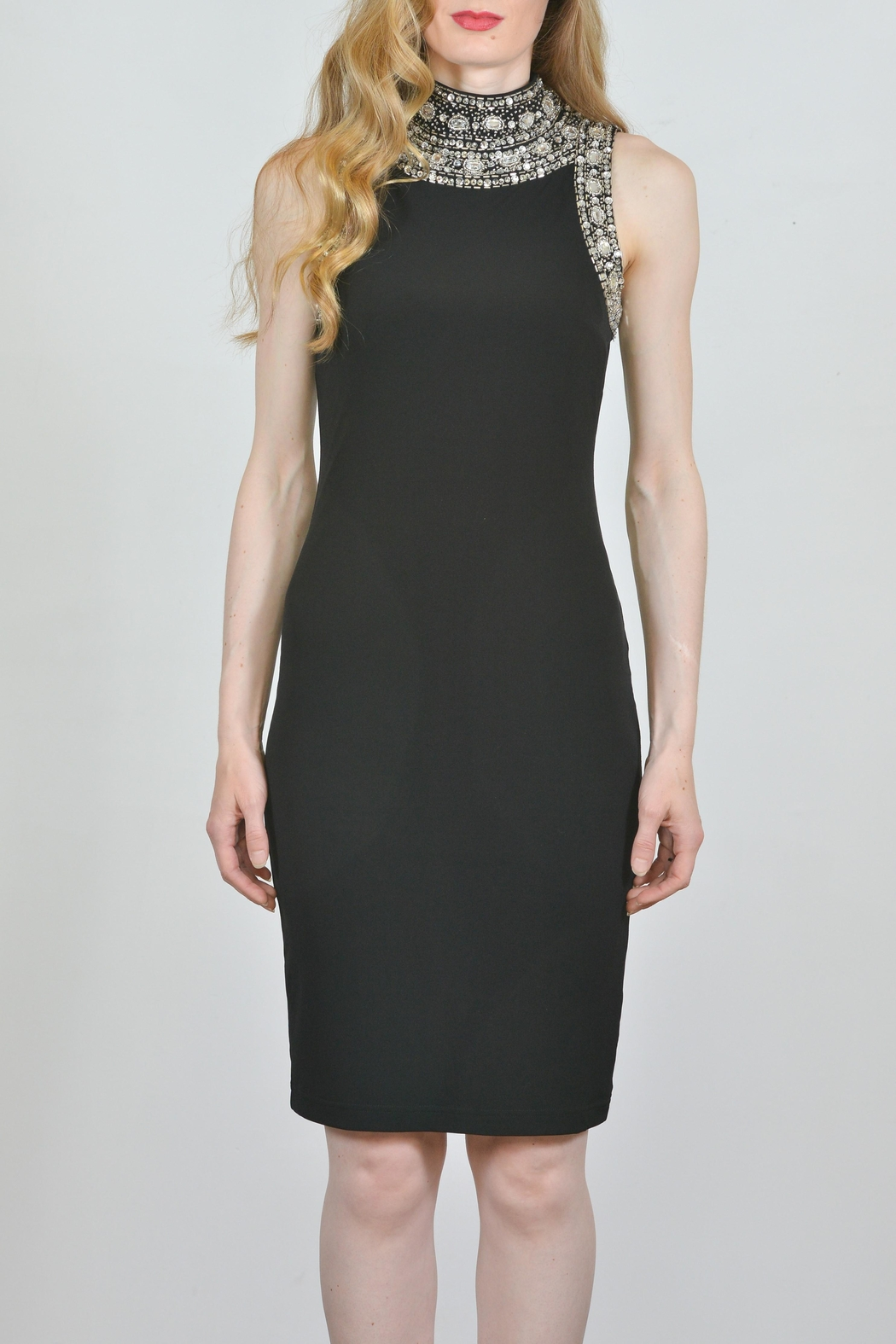Joseph Ribkoff Crystal Accented Dress - Front Cropped Image