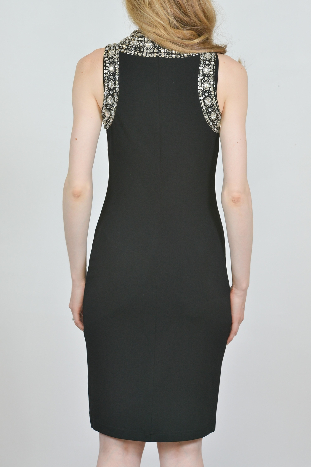 Joseph Ribkoff Crystal Accented Dress - Front Full Image