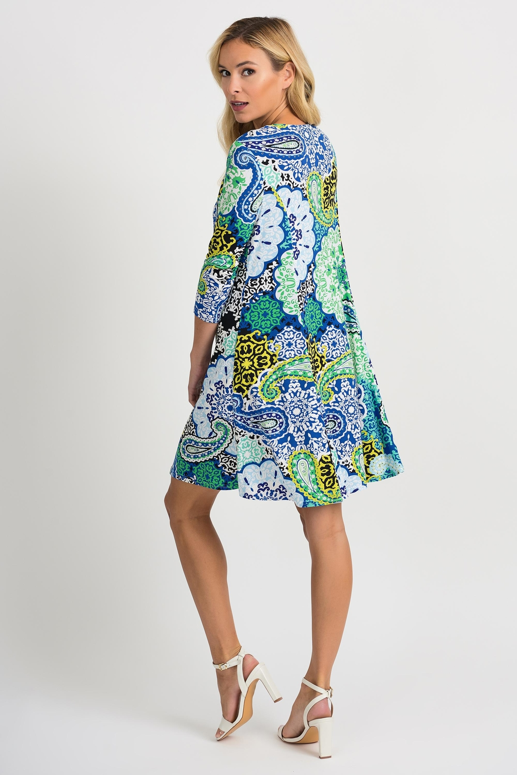 Joseph Ribkoff Crystal Printed Dress - Side Cropped Image