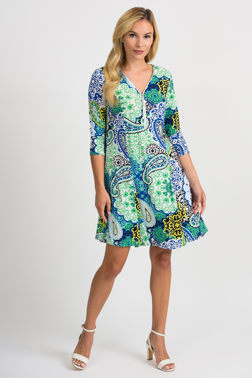 Joseph Ribkoff Crystal Printed Dress - Main Image