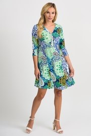 Joseph Ribkoff Crystal Printed Dress - Front cropped