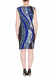 Joseph Ribkoff Crystal Ruched Dress - Front full body